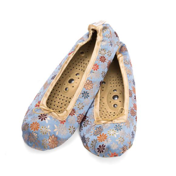 Holistiske Silke Slippers-Lavendel-0