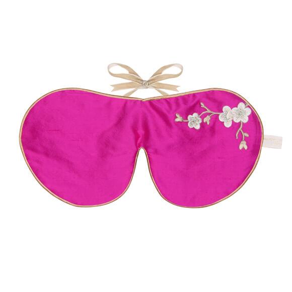 Holistisk Silke øjenmaske pink -0