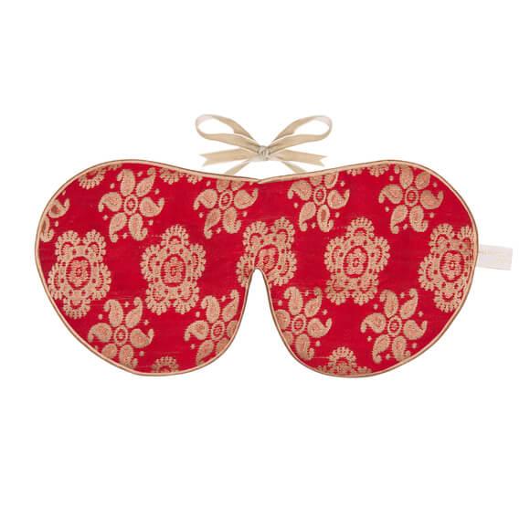 Holistisk Silke øjenmaske rød-0