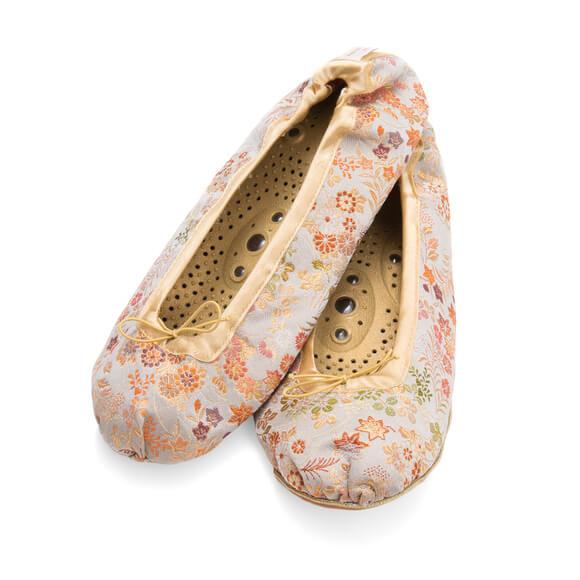 Holistiske Silke Slippers-Silver-0