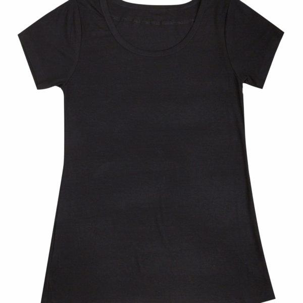 Joha bambus kort ærmet t-shirt sort -0
