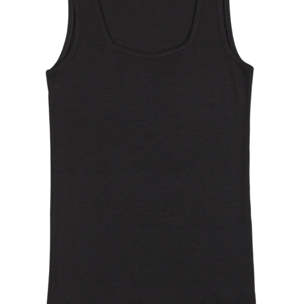 Joha uld silke undertrøje sort -0
