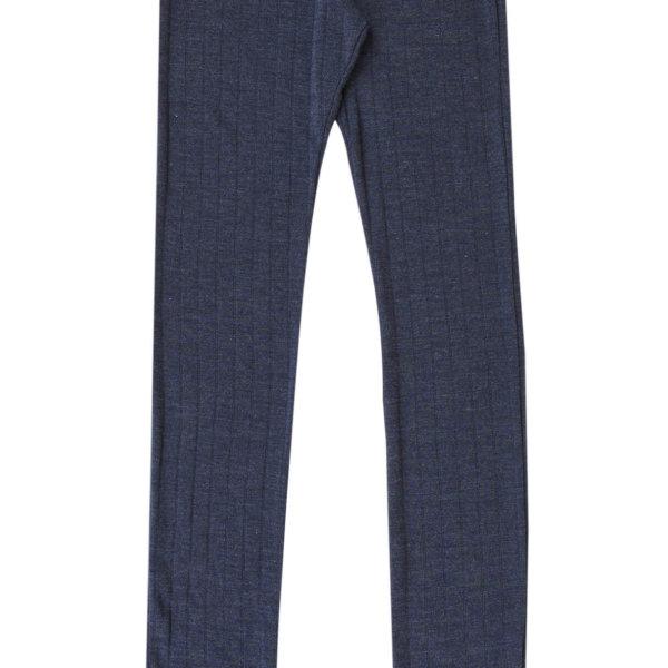 Joha uld silke leggings blå -0