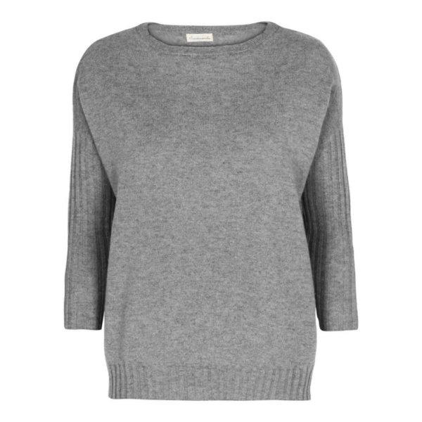 Scandinavianlux oversize cashmere pullover grå