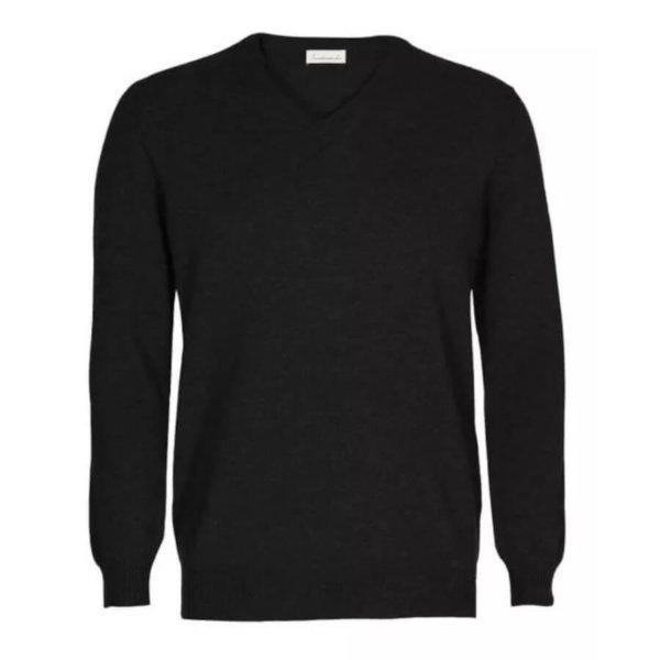 Scandinavianlux cashmere pullover med v-hals grå-0