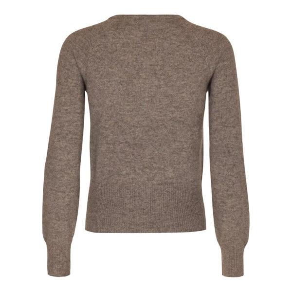 Scandinavianlux cashmere cardigan med bred rib beige