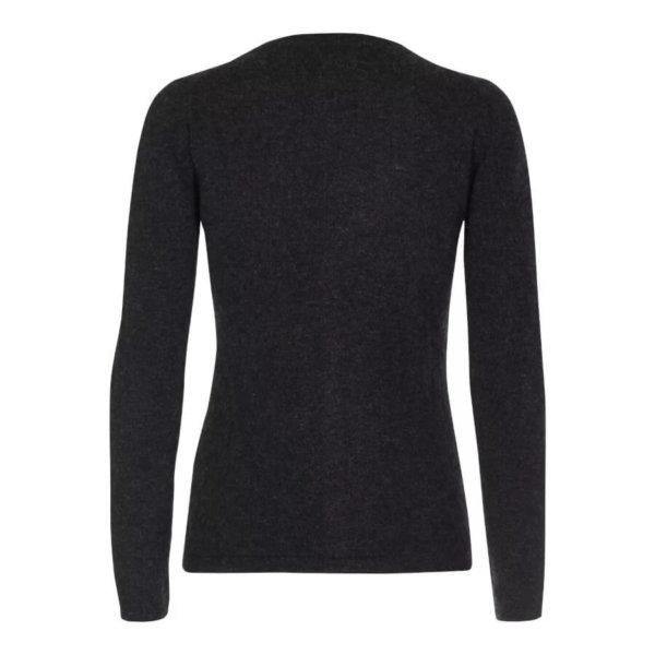Scandinavianlux cashmere cardigan med v-hals mørkegrå