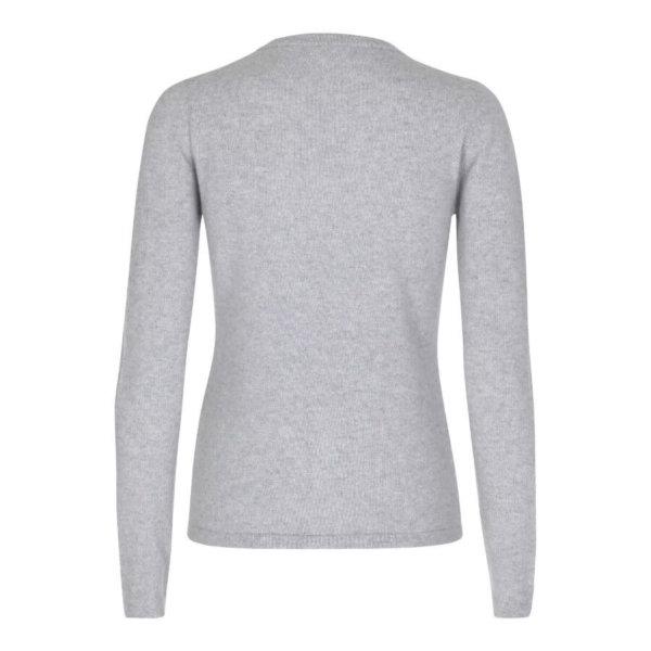 Scandinavianlux cashmere cardigan med v-hals lysegrå