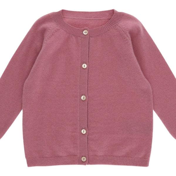 Minilux cashmere cardigan i rosa-0