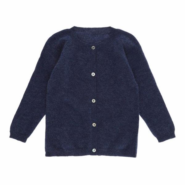 Minilux cashmere cardigan i mørkeblå