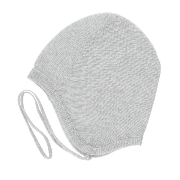 Minilux cashmere børne hue grå-0