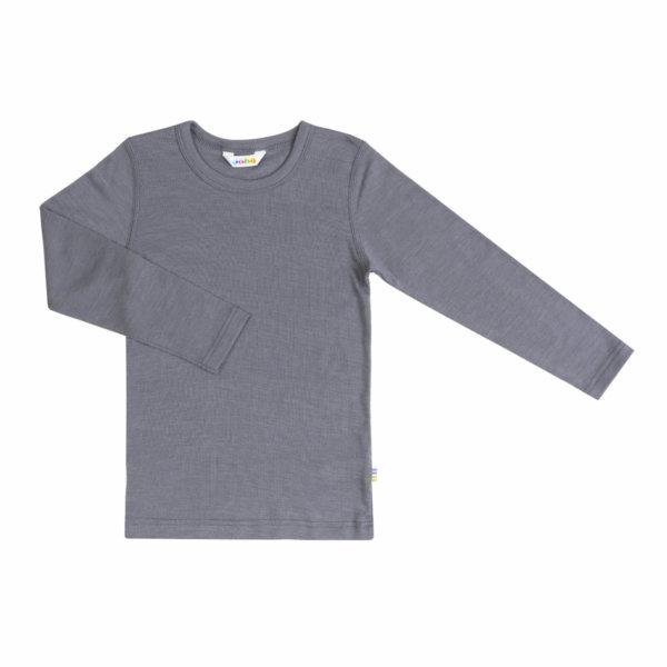 Joha uld silke langærmet t-shirt grå
