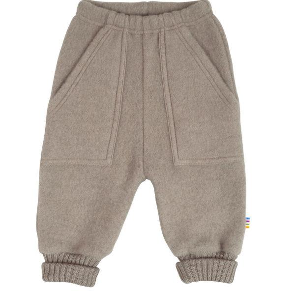 Joha børstet uld bukser beige-0