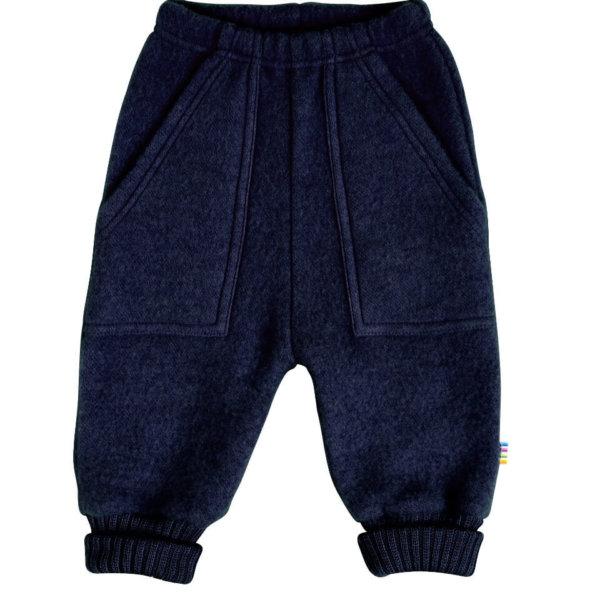 Joha børstet uld bukser blå-0