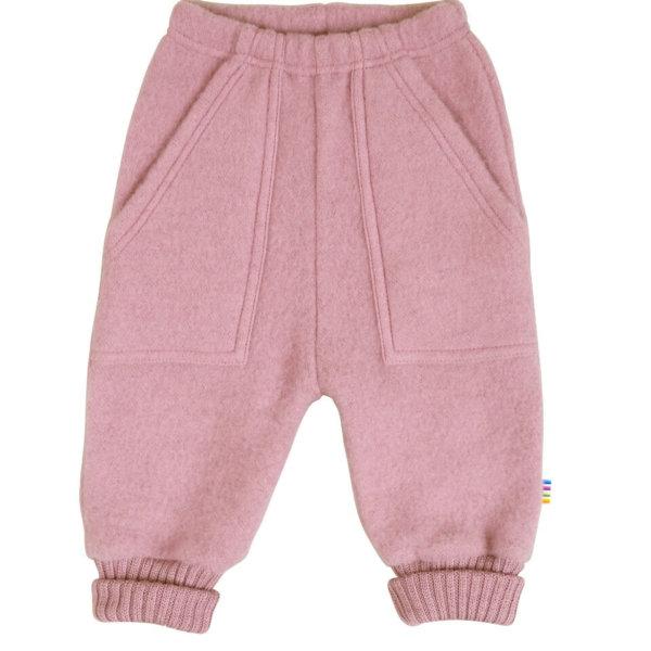Joha børstet uld bukser rosa -0