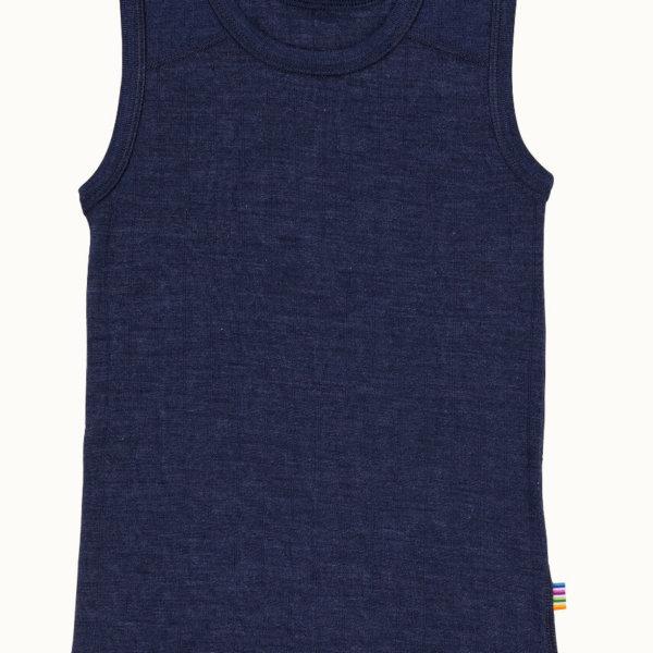 Joha uld silke undertrøje blå -0