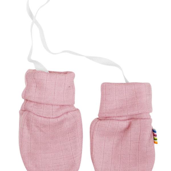 Joha uld luffer uden tommeltot rosa-0