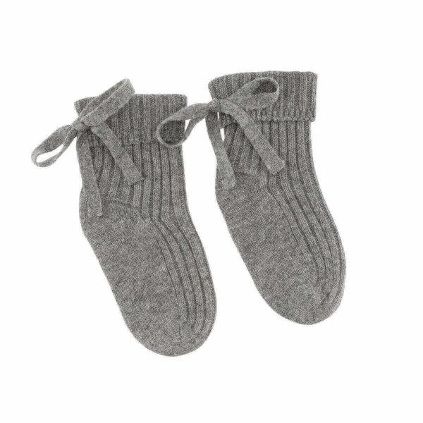 Minilux cashmere sokker grå-0