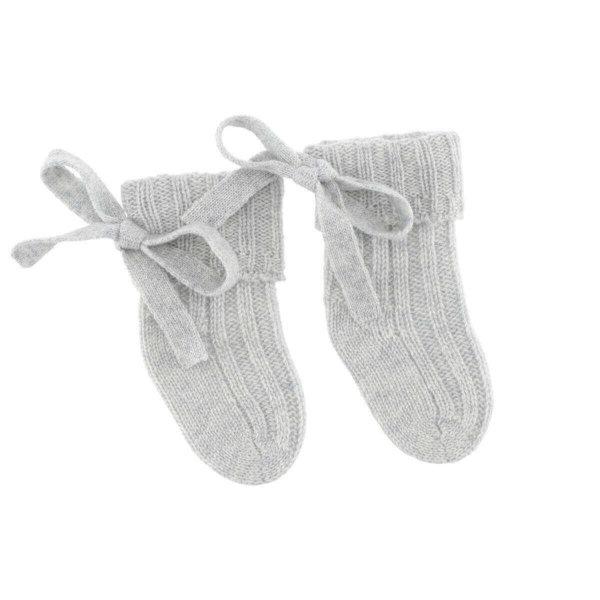 Minilux cashmere sokker lysegrå-0