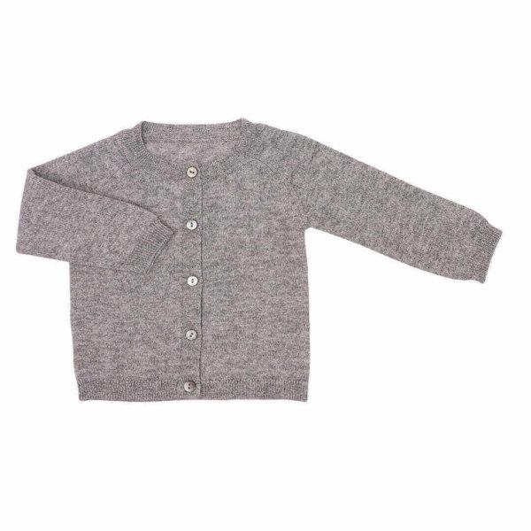 Minilux cashmere cardigan i grå -0