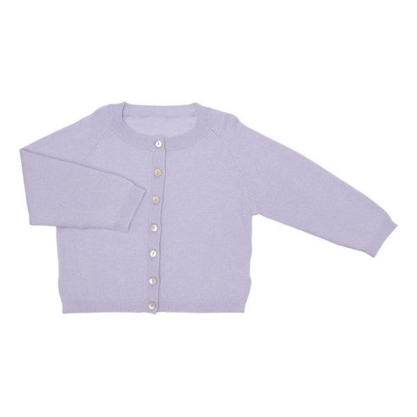Minilux cashmere cardigan i lavendel -0