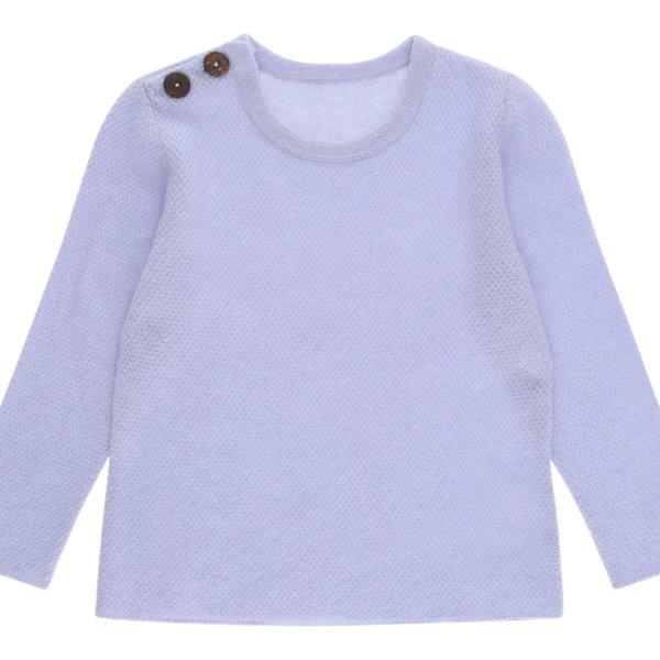 Minilux cashmere pullover i lavendel med 2 knapper-0