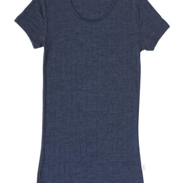 Joha uld-silke t-shirt blå-0