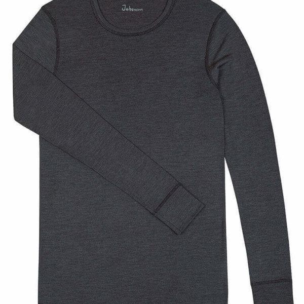 Johansen uld-silke langærmet t-shirt grå-0