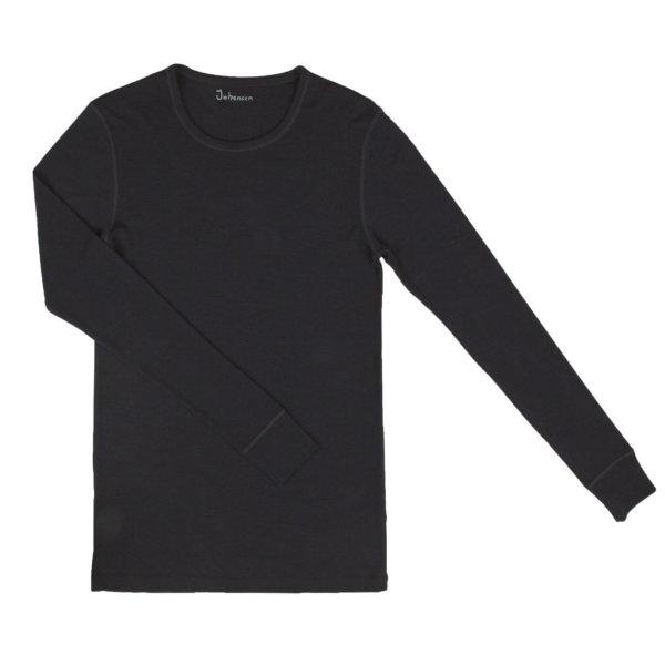 Johansen uld langærmet t-shirt sort