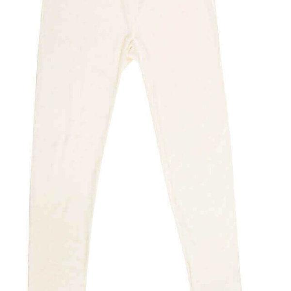 Joha uld leggings med blondekant naturhvid-0