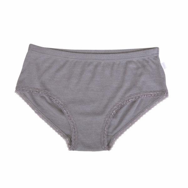 Joha uld-silke underbukser grå