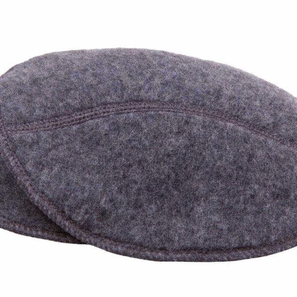 Joha grå ammeindlæg børstet uld -0