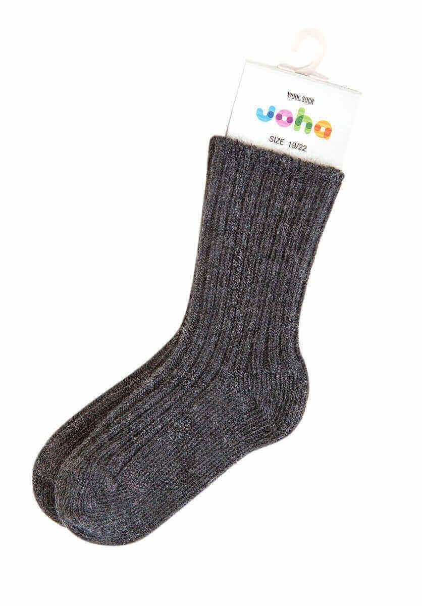 Joha uld sokker mørkegrå