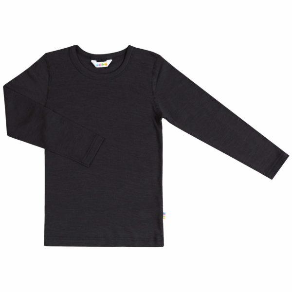 Joha uld silke langærmet t-shirt sort