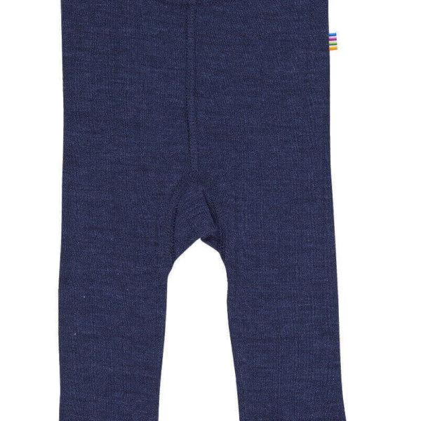 Joha uld silke leggings i mørkeblå-0