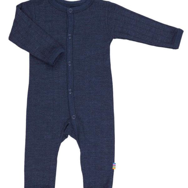 Joha uld silke heldragt i mørkeblå-0