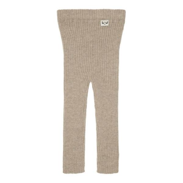 Minilux cashmere rib leggings beige-0