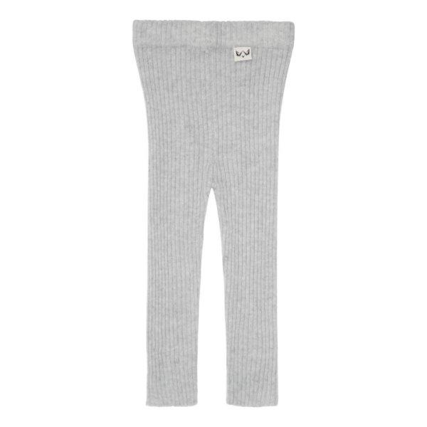 Minilux cashmere rib leggings lysegrå-0
