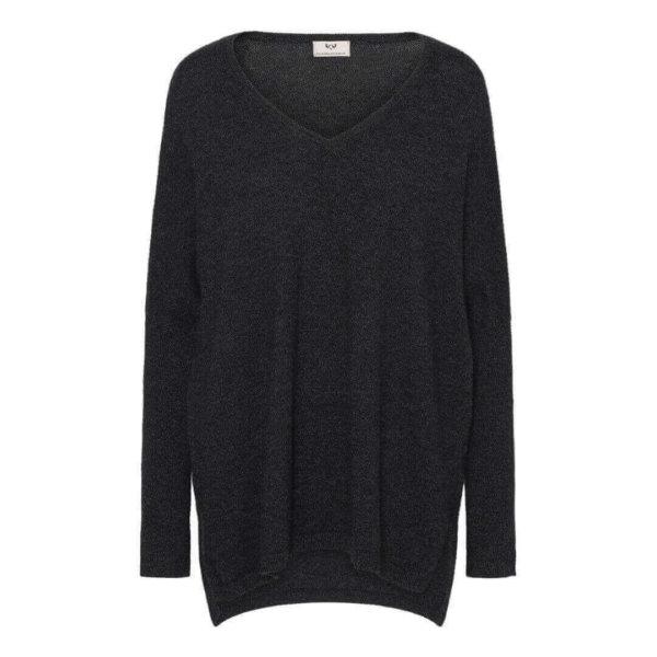 Scandinavianlux oversize cashmere pullover V-hals grå-0