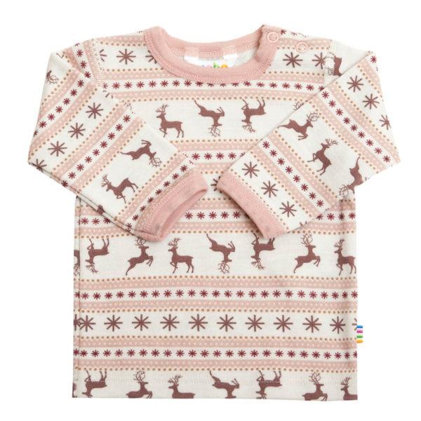 Joha uld langærmet bluse lyserød-0