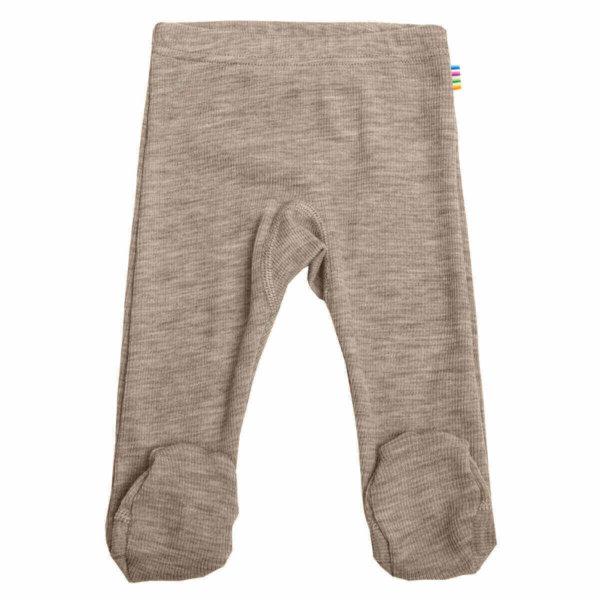 Joha uld-silke leggings med fod i beige-0