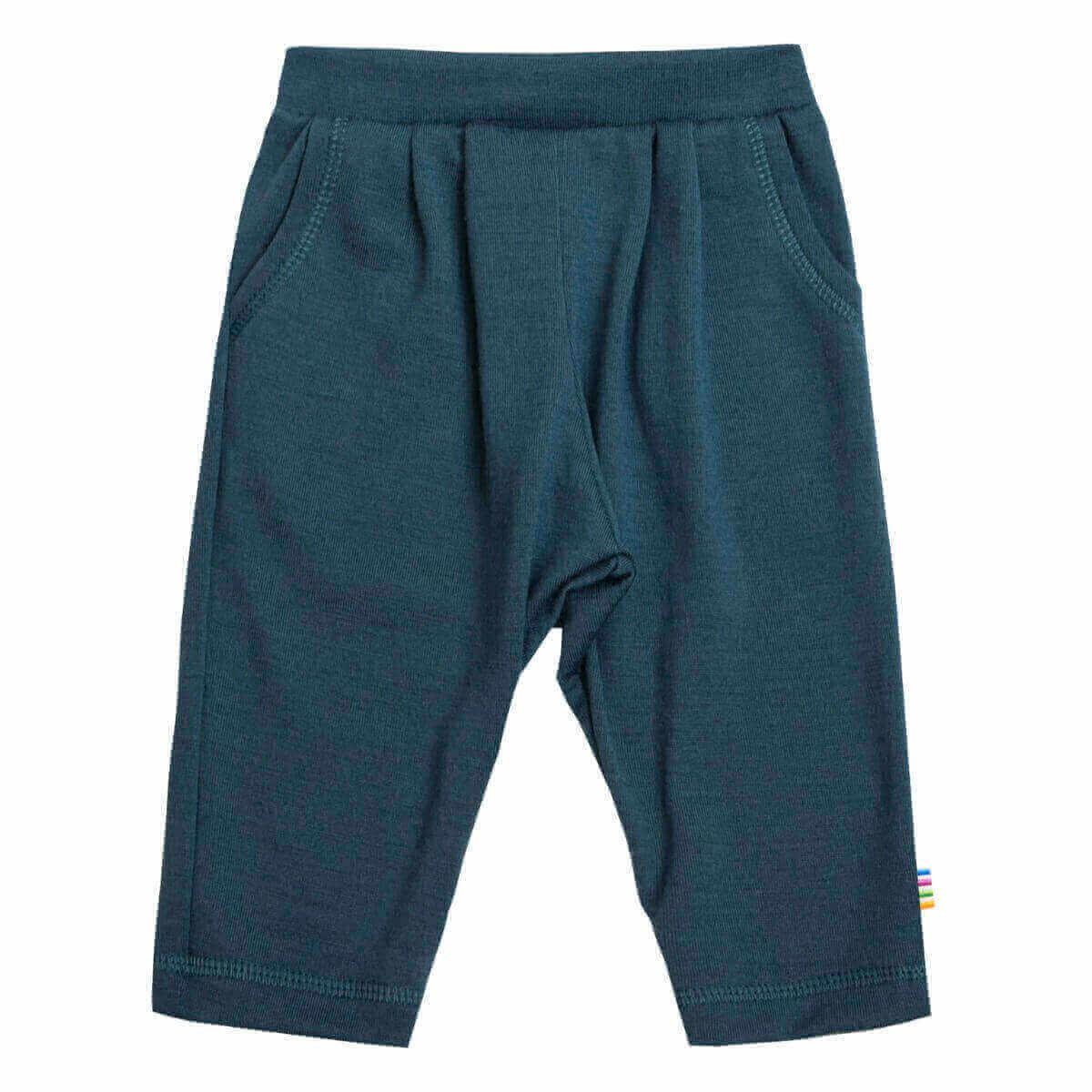 Joha uld bukser i blå-0