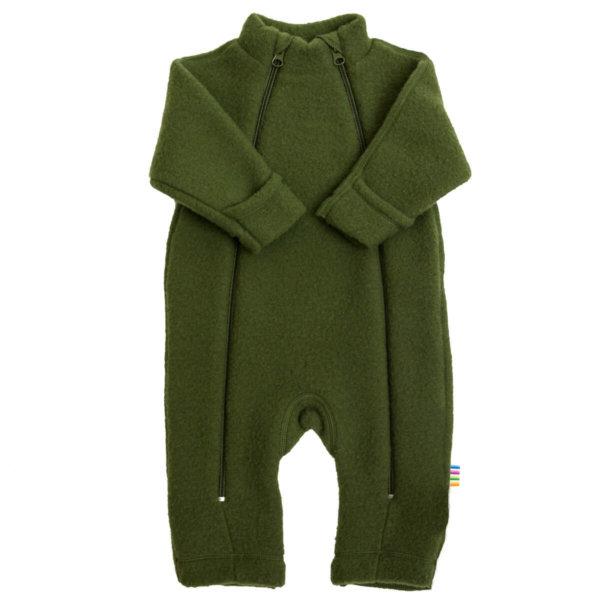 Joha børstet uld jumpsuit flaskegrøn-0