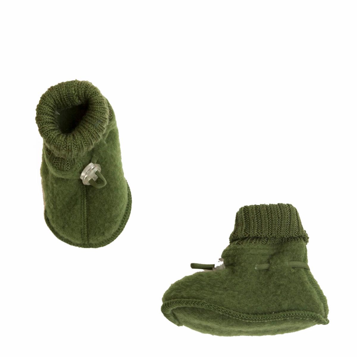 Joha børstet uld sove futter i flaskegrøn