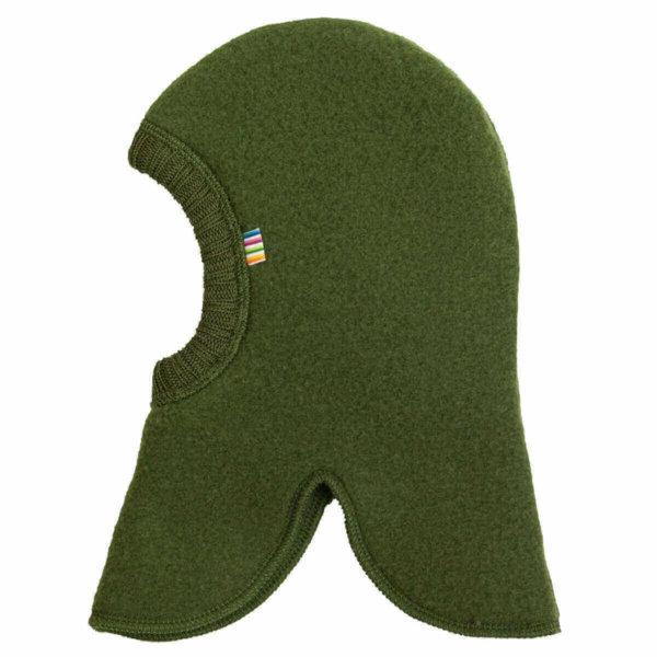 Joha børstet uld elefanthue flaskegrøn-0