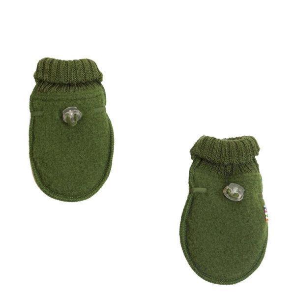 Joha børstet uld luffer i flaskegrøn-0