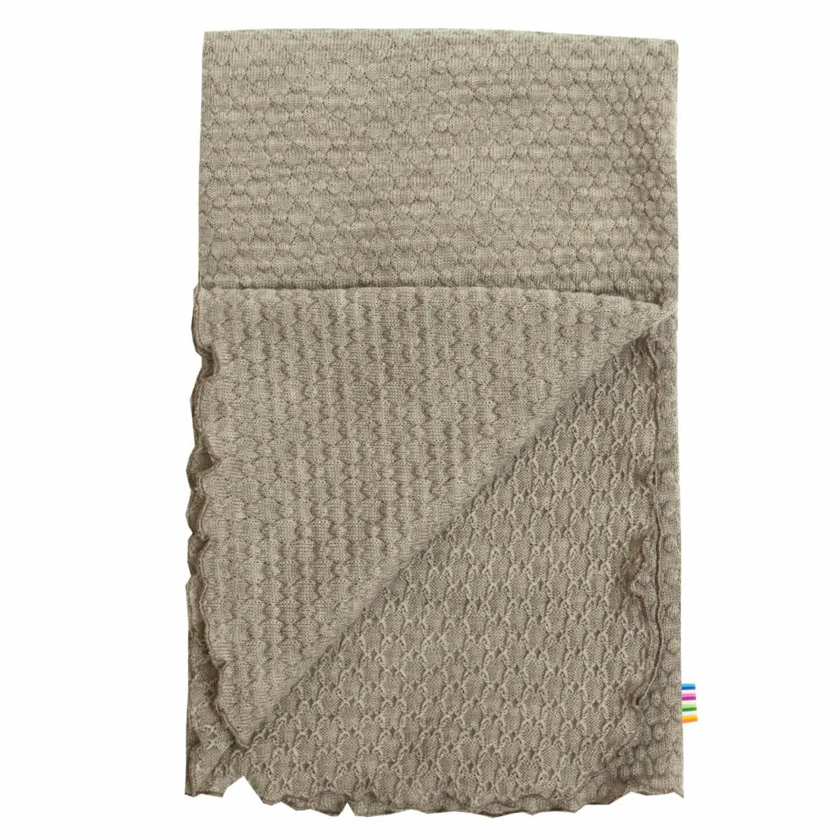 Joha uld baby tæppe i beige