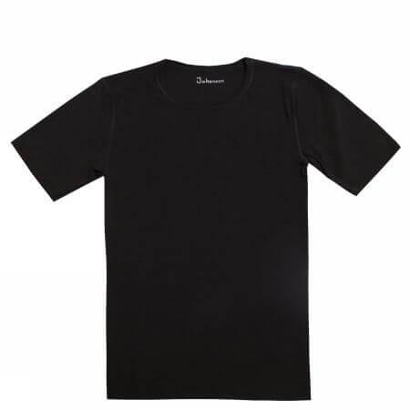 Johansen uld-silke t-shirt sort