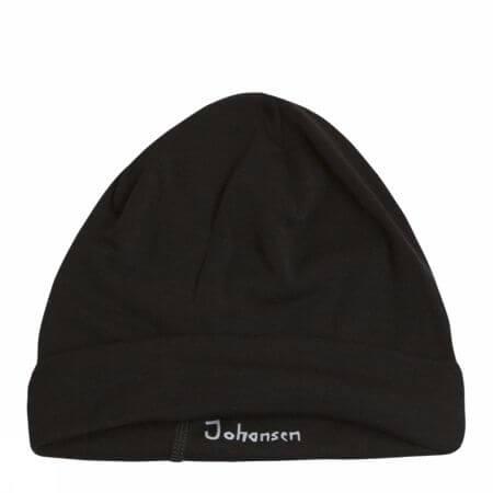 Johansen uld-silke hue sort