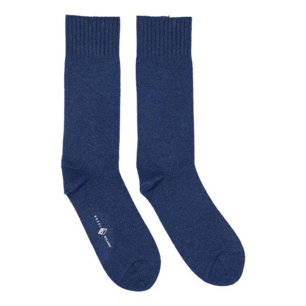 Cashmere strømper til mænd blå